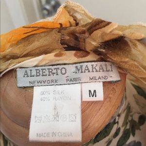 Alberto Makali Silk top and shrug